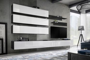 ASM Fly J1 Living Room Wall Unit Set White/Black