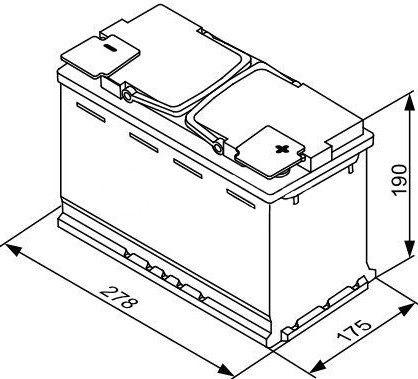 Bosch AGM S5 A08 Battery