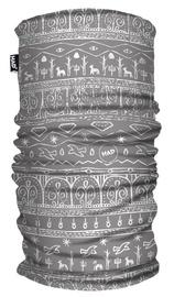 H.A.D. Printed Fleece Tube Babylon Light Grey