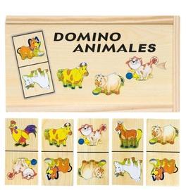 Lauamäng Woody Domino Farm Animals 28pcs 90092, EN/EE/LV/LT/RUS