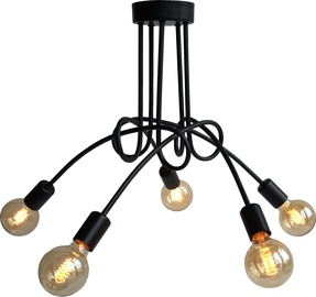 Light Prestige Spin 5 Hanging Lamp E27 60W Black