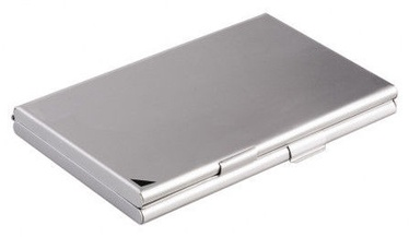 Durable Business Card Case 95x58mm Silver