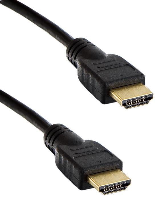 4World HDMI Cable High Speed With Ethernet 1.8m Black