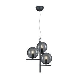 Trio Pure 302000342 Ceiling Lamp 3x28W E14 Black