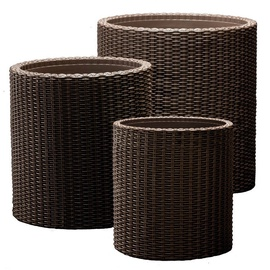 Keter Cylinder Planters 3pcs Grey
