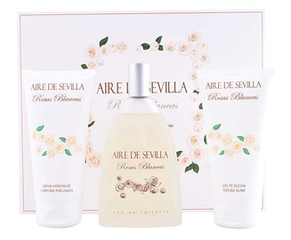 Instituto Español Aire De Sevilla Rosas Blancas 150ml EDT + 150ml Body Cream + 150ml Shower Gel