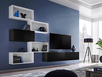 ASM Blox VIII Living Room Wall Unit Set White/Black