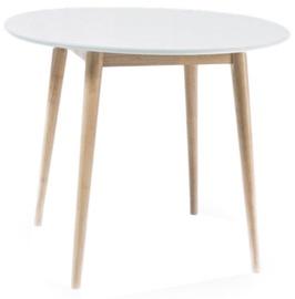 Обеденный стол Signal Meble Larson White/Oak, 900x900x750 мм
