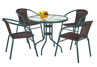 Halmar Grand 80 Garden Table Dark Green