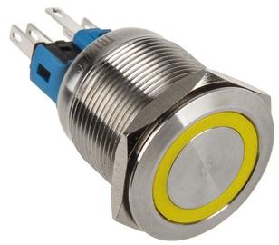 DimasTech Switch Push Button 22mm Silverline Yellow