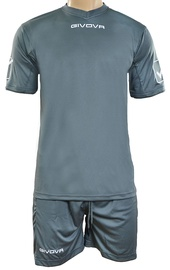 Givova Sports Wear Kit MC Grey XXS