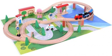 EcoToys Wooden Railway 50pcs HJD93949