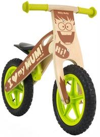 Lastejalgratas Milly Mally KING Wooden Balance Bike Boy 22305