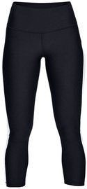 Under Armour HeatGear Ankle Crop Branded Leggings 1329151-002 Black/White L