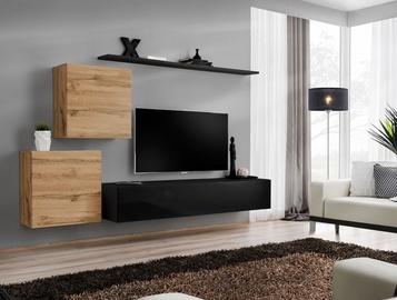 ASM Switch V Wall Unit Wotan Oak/Black