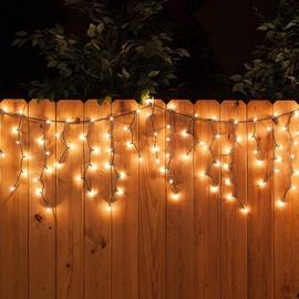 Jõulutuled jääpurikad, 160 LED, soe valge, 3,1 m