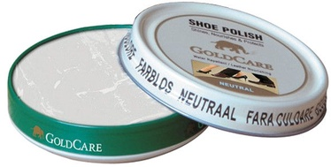 GoldCare Shoe Cream With Wax In Metal Pack Neutral
