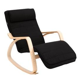Songmics Rocking Chair w/ Footrest Black