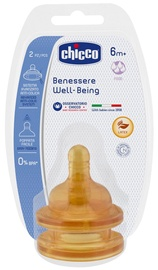 Chicco Well-Being Latex Teat 2pcs 6