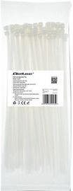 Qoltec Zippers Nylon UV 4.8x250mm 100pcs. White