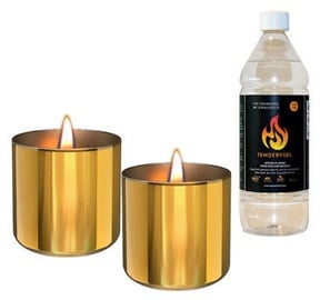 Tenderflame Lilly Table Burner Set 8cm Gold