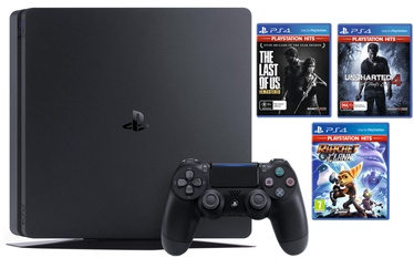 Sony Playstation 4 (PS4) Slim 1TB Black + Hits Bundle