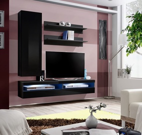 ASM Fly S7 Living Room Wall Unit Set Black