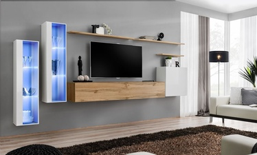 ASM Switch XI Wall Unit White/Wotan Oak
