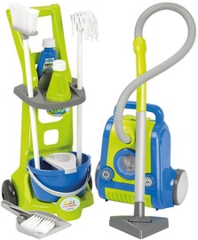 Ecoiffier Clean Home Cleaning Cart And Vacuum Cleaner Set