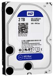 Western Digital Blue HDD 2TB 5400RPM SATA3 64MB WD20EZRZ