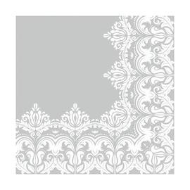 SN Napkins 33x33cm 20pcs White Gray