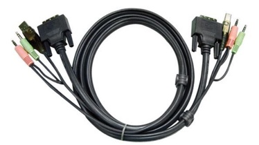 Aten 2L-7D03UI KVM Cable DVI-I, USB, 3.5 mm