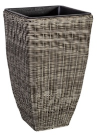 Home4you Flowerpot Wicker 21x21x36cm Grey