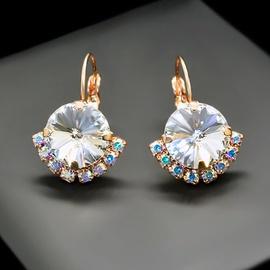 Diamond Sky Earrings With Crystals From Swarowski Klaris V Classic