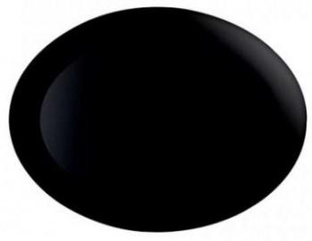 Luminarc Diwali Oval Plate 25x33cm Black