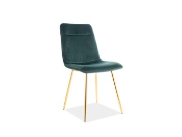 Signal Meble Eros Velvet Chair Green/Gold