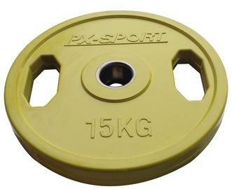 PX Sport Weight Disc Green Rubber 15kg
