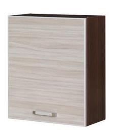 Верхний кухонный шкаф Bodzio Ola 60 Right Nut Latte, 600x310x720 мм