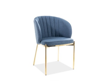 Signal Meble Prado Chair Navy/Gold