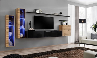 ASM Switch XI Wall Unit Wotan Oak/Black