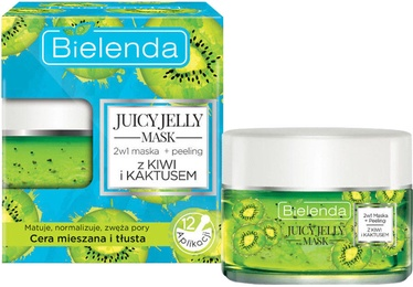 Bielenda Juicy Jelly Mask Kiwi & Cactus 2 In 1 Cleansing Mask + Peeling 50g