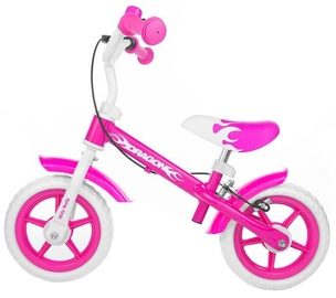 Laste jalgratas Milly Mally Dragon Balance Bike With Brakes Pink 0160