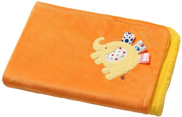 Babyono 3D Microfiber Double-Sided Blanket 1401 Orange