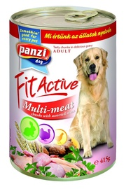 Koerakonserv Panzi Fit Active Multi-meat, 415 g