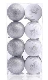 Елочная игрушка DecoKing Meli White/Silver, 16 шт.