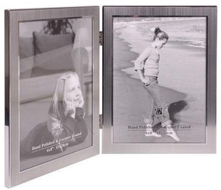 Poldom Photo Frame Double 15x20cm Silver