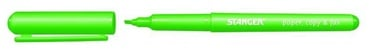Stanger Highlighter Pen 1-3mm 10pcs Green 180006900