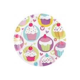 SN Birthday Cakes Plates 23cm 8pcs