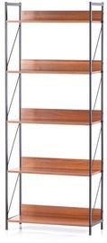 Homede Tukke Shelf 27.6x62x155cm Walnut
