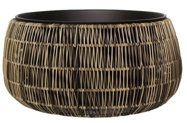 Home4you Flowerpot Wicker D36x20cm Brown